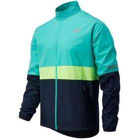 New Balance Accelerate Jacket Men, Turquesa/azul